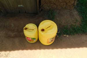 The Water Project: Musango Commnuity, Wabuti Spring -  Water Storage Containers