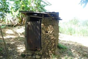 The Water Project: Eshimuli Community, Mbayi Spring -  Latrine