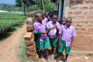 The Water Project: KG Jeptorol Primary School -  Boys At Their Latrines