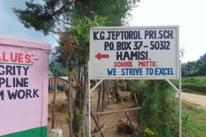 The Water Project: KG Jeptorol Primary School -  Signpost