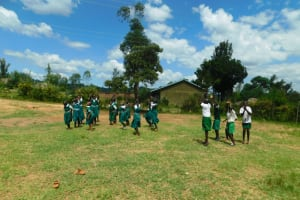 The Water Project: Kitambazi Primary School -  Gym Class On The Playground