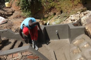 The Water Project: Mahira Community, Wora Spring -  Plaster Works