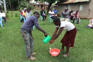 The Water Project: Mahira Community, Wora Spring -  Handwashing Demonstration