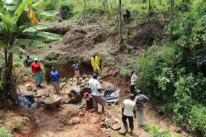 The Water Project: Mahira Community, Wora Spring -  Onsite Training During Construction