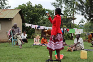 The Water Project: Mahira Community, Wora Spring -  Explaining Solar Disinfection