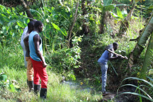 The Water Project: Litinye Community, Shivina Spring -  Site Clearance Before Construction
