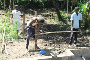 The Water Project: Litinye Community, Shivina Spring -  Fencing