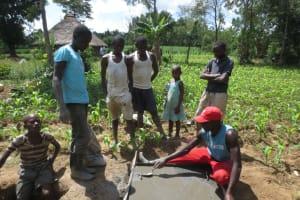 The Water Project: Litinye Community, Shivina Spring -  Sanplat Construction