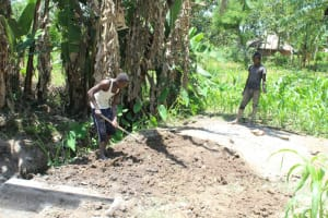 The Water Project: Litinye Community, Shivina Spring -  Site Leveling