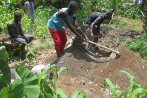 The Water Project: Litinye Community, Shivina Spring -  Cement Works