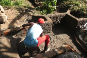 The Water Project: Litinye Community, Shivina Spring -  Plaster Works