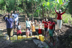 The Water Project: Litinye Community, Shivina Spring -  Community Celebrates The Spring
