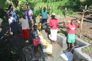 The Water Project: Litinye Community, Shivina Spring -  Happy Day At The Spring