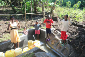 The Water Project: Litinye Community, Shivina Spring -  Kids At The Spring