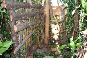 The Water Project: Machemo Community, Boaz Mukulo Spring -  Bathing Shelter Floor And Walls