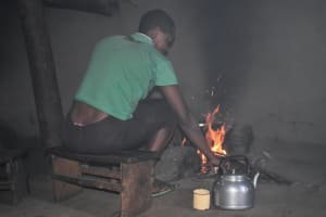 The Water Project: Machemo Community, Boaz Mukulo Spring -  Inside Kitchen Preparing A Meal