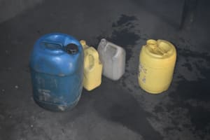 The Water Project: Machemo Community, Boaz Mukulo Spring -  Water Storage Containers