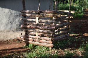 The Water Project: Machemo Community, Boaz Mukulo Spring -  Bathing Shelter