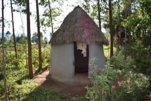 The Water Project: Machemo Community, Boaz Mukulo Spring -  Latrine Facility