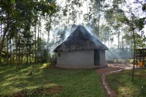 The Water Project: Machemo Community, Boaz Mukulo Spring -  Outside The Kitchen