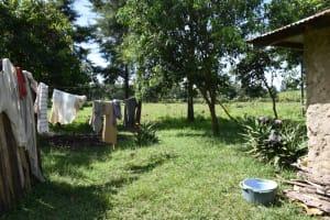 The Water Project: Makhwabuye Community, Majimazuri Lusala Spring -  Clothesline At Home
