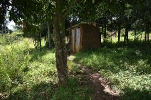 The Water Project: Makhwabuye Community, Majimazuri Lusala Spring -  Hand Washing Station On Tree And Latrines