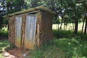 The Water Project: Makhwabuye Community, Majimazuri Lusala Spring -  Latrine Facility