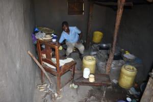 The Water Project: Makhwabuye Community, Majimazuri Lusala Spring -  Kitchen Set Up