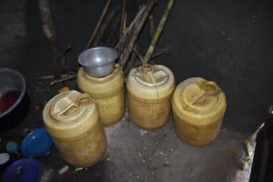 The Water Project: Makhwabuye Community, Majimazuri Lusala Spring -  Water Storage Conatiners
