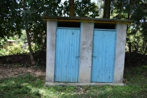 The Water Project: Mukangu Community, Mukasia Spring -  Bathing Shelter And A Latrine