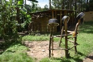 The Water Project: Mukangu Community, Mukasia Spring -  Dishrack