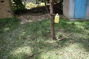 The Water Project: Mukangu Community, Mukasia Spring -  Hand Washing Point