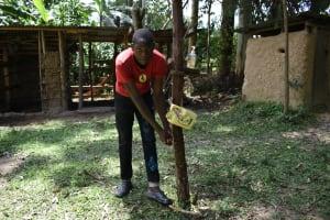 The Water Project: Mukangu Community, Mukasia Spring -  Handwashing Facility Next To Latrine