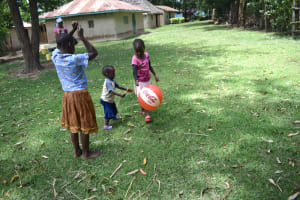 The Water Project: Mukangu Community, Mukasia Spring -  Children Playing While Home From School