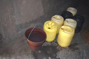 The Water Project: Mukangu Community, Mukasia Spring -  Water Storage Facility