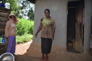 The Water Project: Kimang'eti Community, Kimang'eti Spring -  Agnes With Her Son At Home