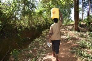 The Water Project: Kimang'eti Community, Kimang'eti Spring -  Carrying Water