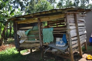 The Water Project: Kimang'eti Community, Kimang'eti Spring -  Traditional Granary For Storing Harvested Maize