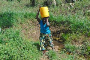 The Water Project: Bukhakunga Community, Wakukha Spring -  Joyna Carrying Water