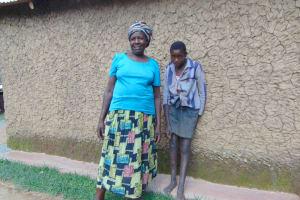 The Water Project: Bukhakunga Community, Wakukha Spring -  Joyna And Her Grandchild