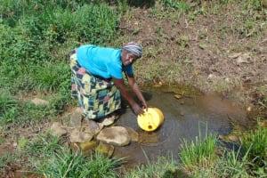 The Water Project: Bukhakunga Community, Wakukha Spring -  Joyna Fetching Water