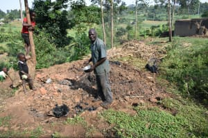 The Water Project: Indulusia Community, Wanyama Spring -  Charcoal Harvesting