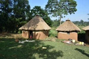 The Water Project: Indulusia Community, Wanyama Spring -  Traditional Homestead