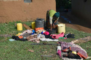 The Water Project: Indulusia Community, Wanyama Spring -  Washing Clothes