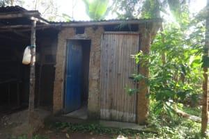The Water Project: Mahira Community, Mukalama Spring -  Latrine