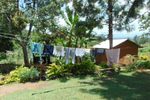 The Water Project: Bukhakunga Community, Maikuva Spring -  Clothesline