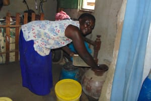 The Water Project: Bukhakunga Community, Maikuva Spring -  Getting A Drink