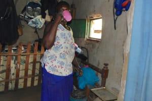 The Water Project: Bukhakunga Community, Maikuva Spring -  Having Some Water