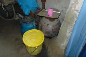 The Water Project: Bukhakunga Community, Maikuva Spring -  Water Storage