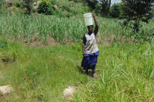 The Water Project: Bukhakunga Community, Maikuva Spring -  Carrying Water